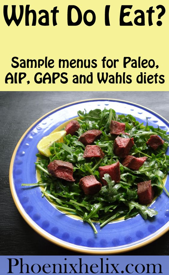 What Do I Eat? Sample Menus for Paleo, GAPS and Wahls Diets | Phoenix Helix