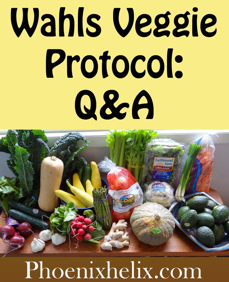 Wahls Veggie Protocol Q&A | Phoenix Helix