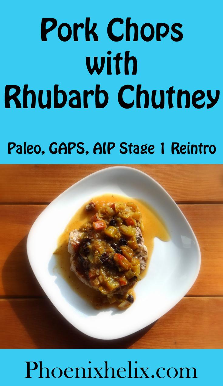 Pork Chops with Rhubarb Chutney: AIP + Cumin & Black Pepper