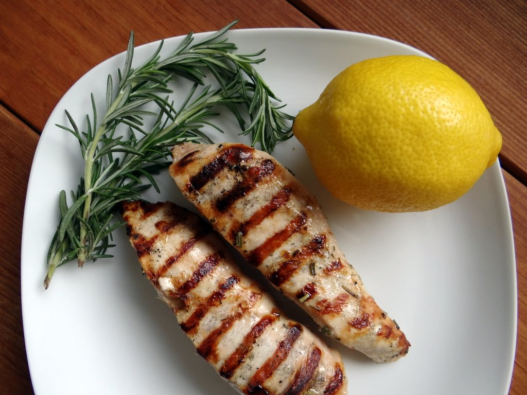 rosemary lemon chicken skewers with dijon mayo honey lemon rosemary ...