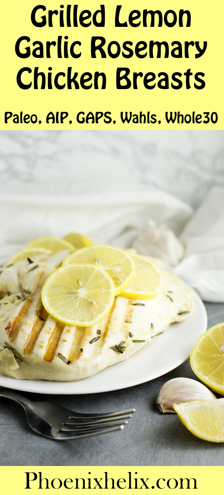 Garlic Lemon Garlic Rosemary Chicken Breasts | Phoenix Helix