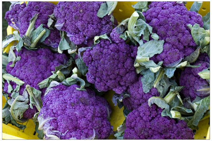 photo of purple cauliflower