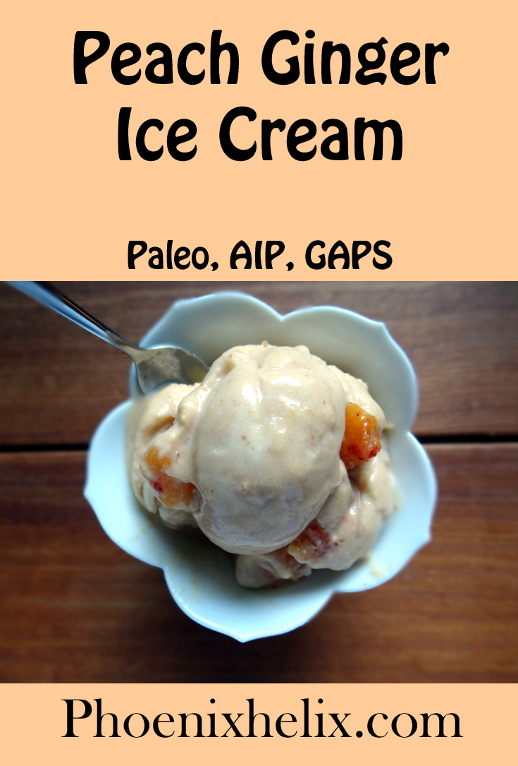 Paleo AIP Peach Ginger Ice Cream | Phoenix Helix