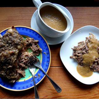 ow Cooker Roast Pork with Onion Apple Gravy | Phoenix Helix