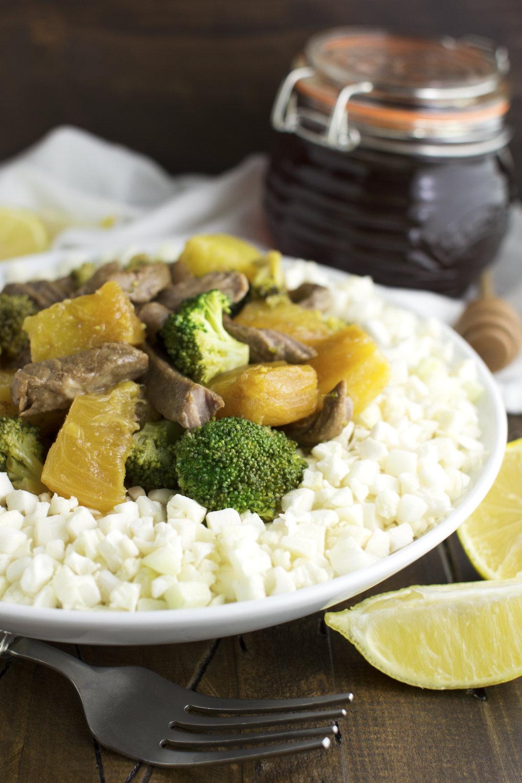 "Stir Fry with Magic Sauce Over Cauliflower ""Rice"" | Phoenix Helix"
