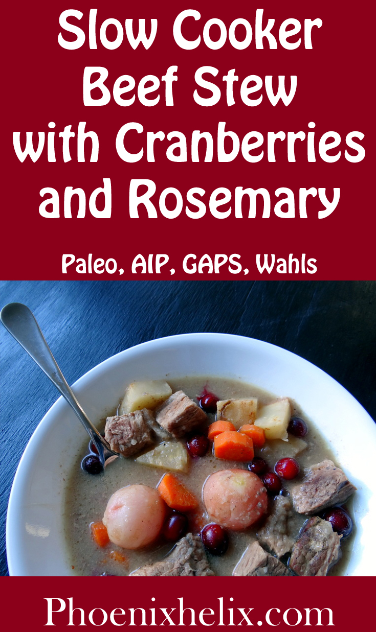 Slow Cooker Beef Stew with Cranberries and Rosemary | Phoenix Helix