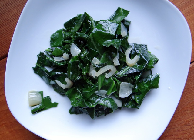 Coconut Creamed Collard Greens