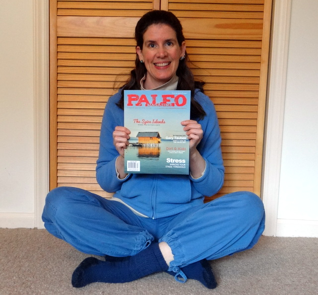 Photo of the author, holding the magazine with joy.