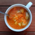 Carrot GInger Halibut Soup