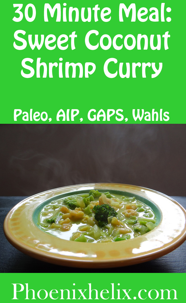 Sweet Coconut Shrimp Curry | Phoenix Helix