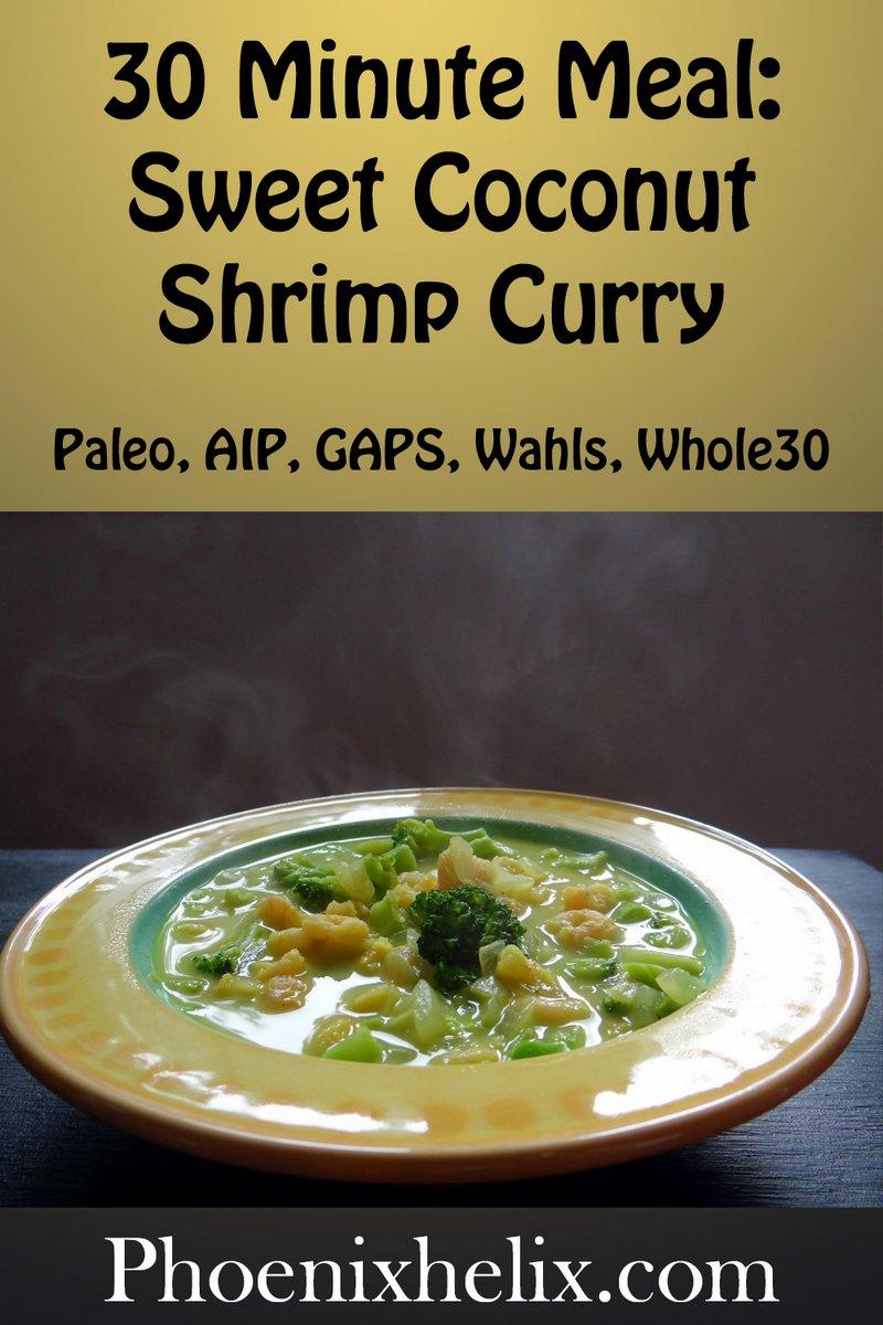 Sweet Coconut Shrimp Curry   Phoenix Helix