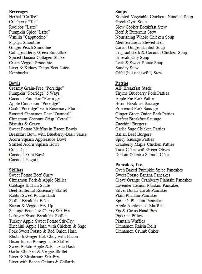 wahls protocol food list pdf