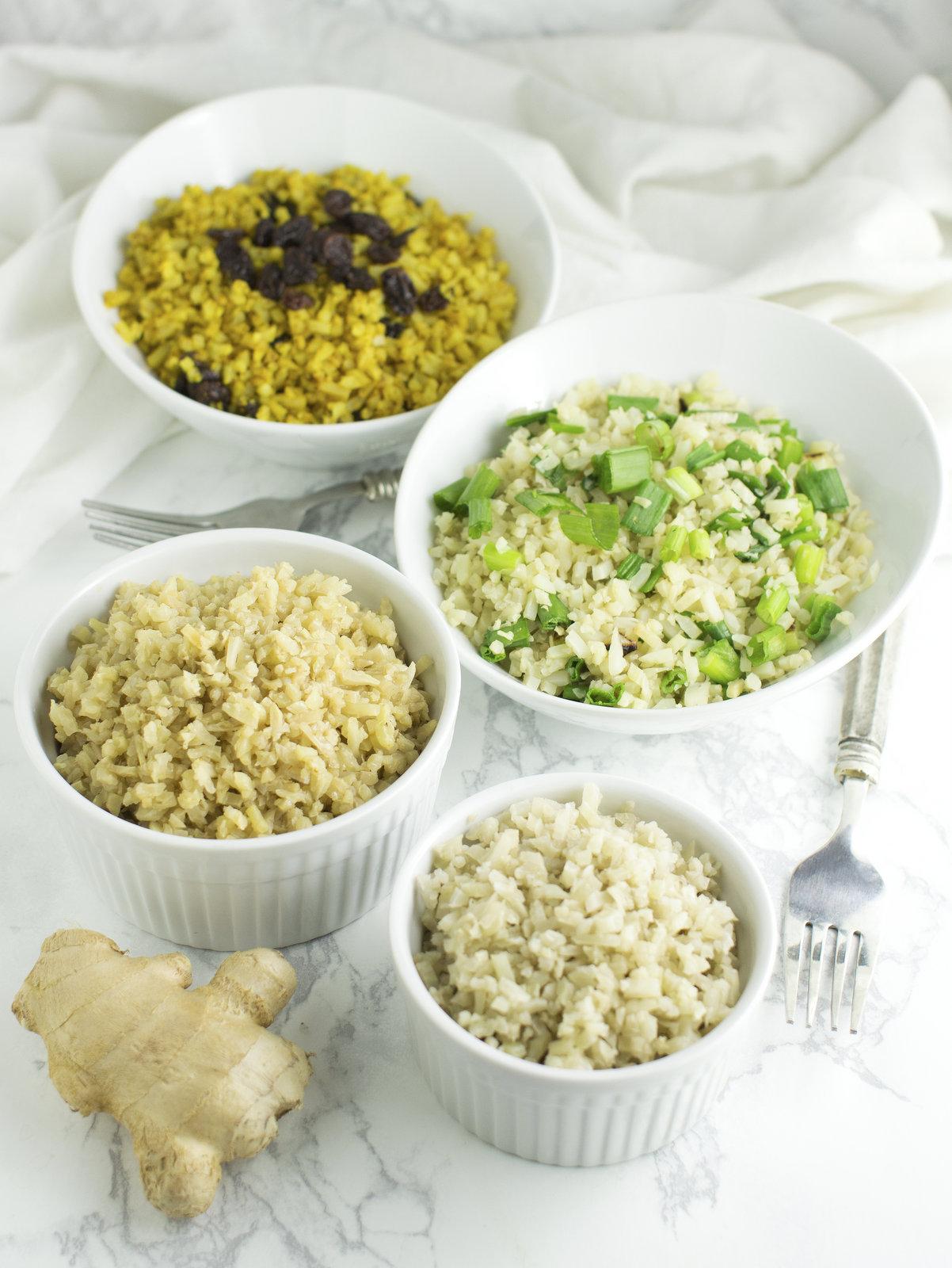 4 Flavors of Cauliflower Rice | Phoenix Helix