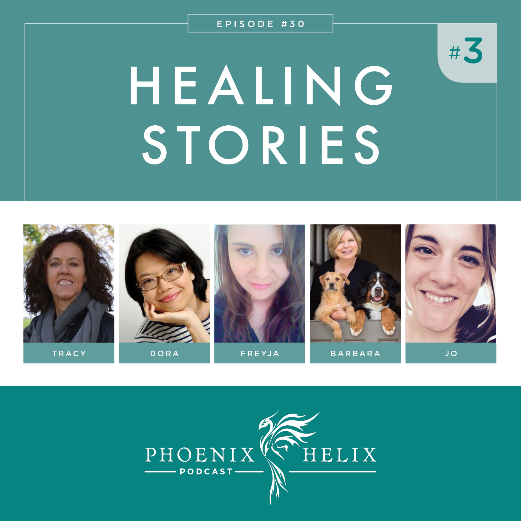 Healing Stories 3 | Phoenix Helix Podcast (Scleroderma, Polymyositis, Raynaud's, Psoriasis, Grave's Disease, Uveitis, and Parkinson's Disease)