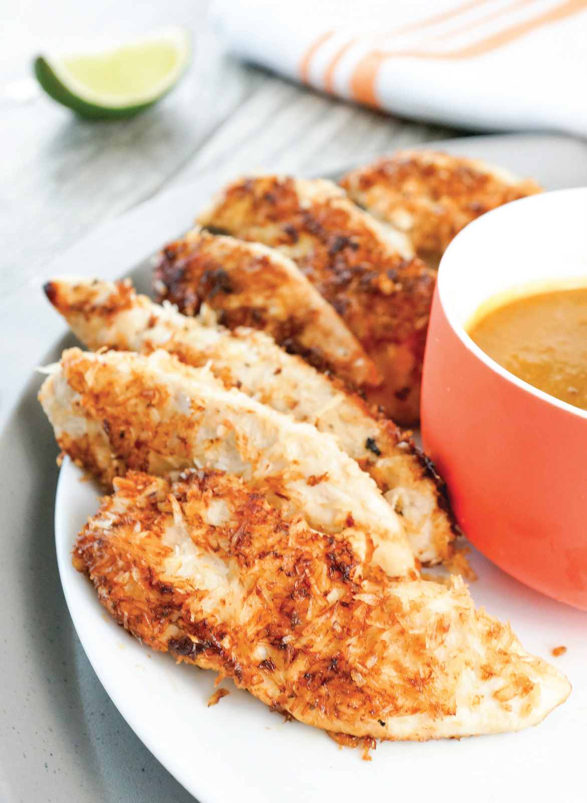 Coconut-Crusted Chicken Tenders with Pineapple Dipping Sauce | Sample Recipe from Healing Kitchen Cookbook
