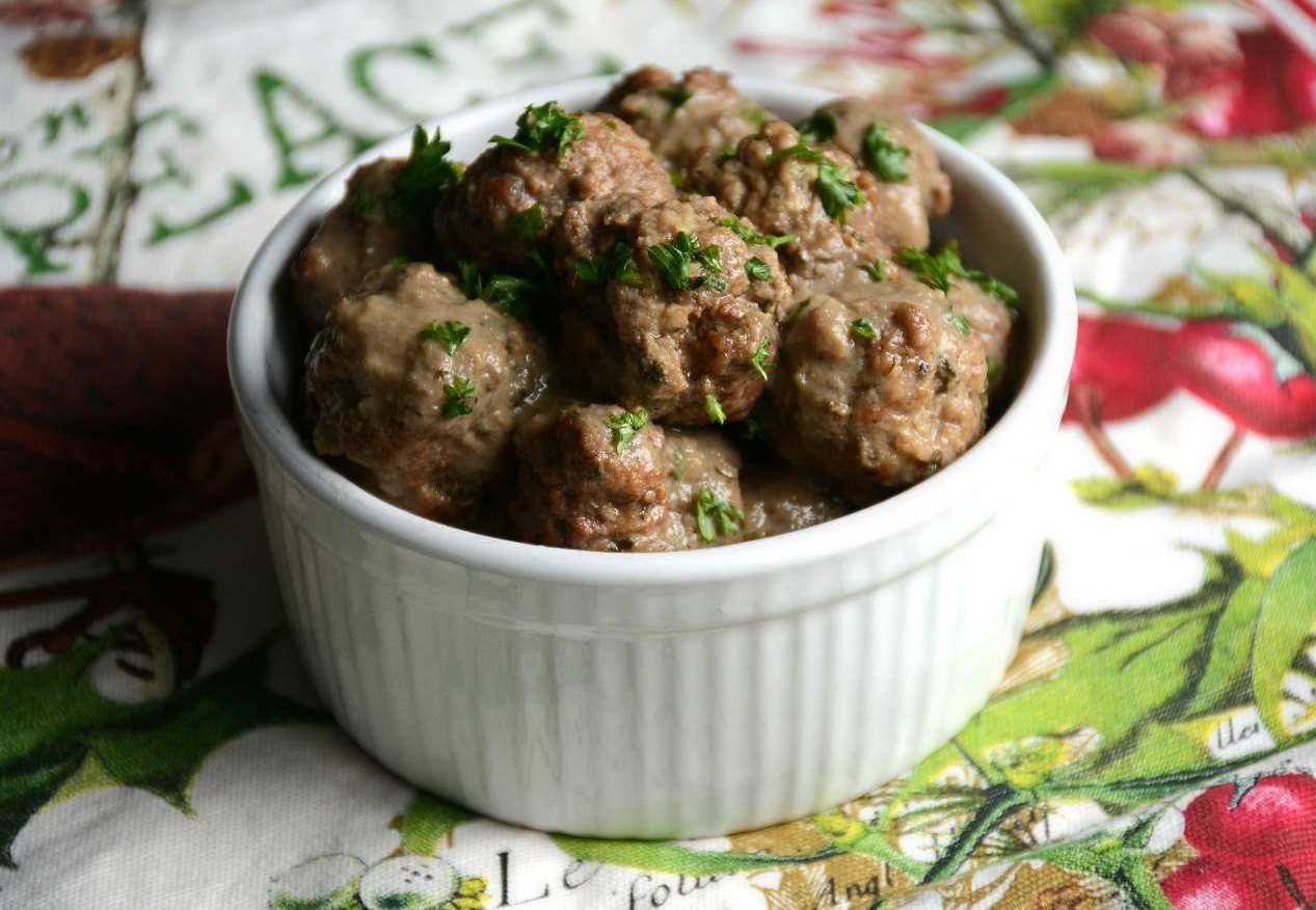 Swedish Meatballs & Mushroom Gravy - Preview Recipe from The Paleo AIP Instant Pot Cookbook
