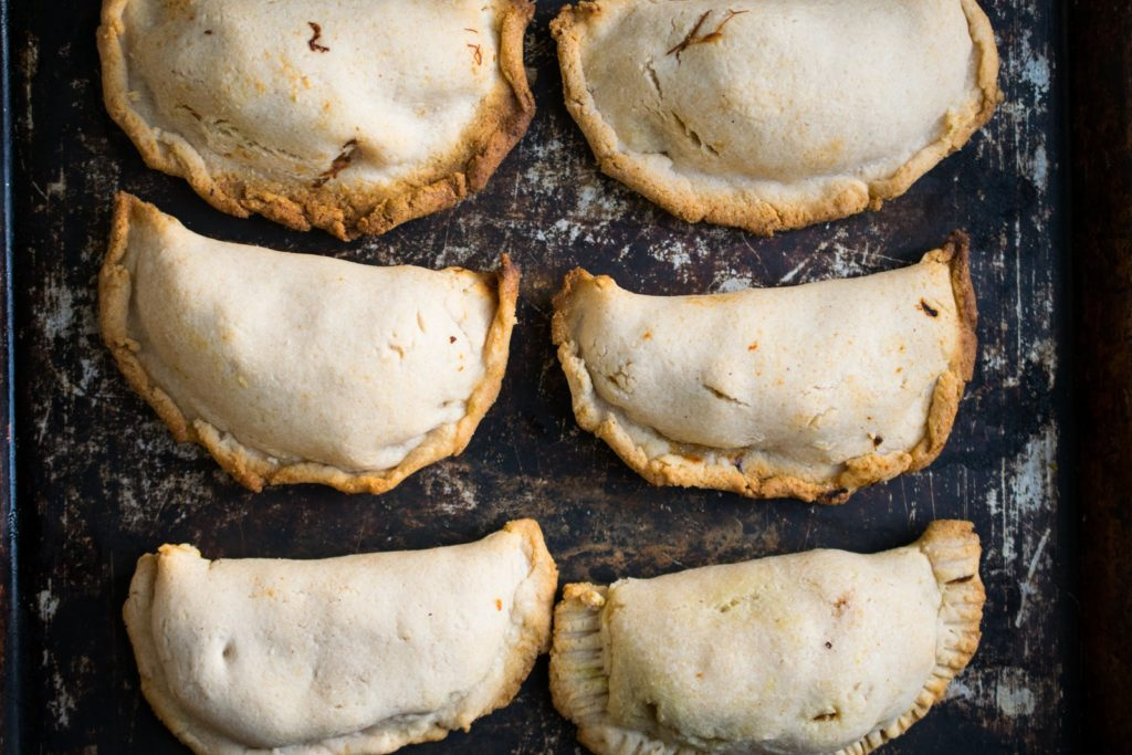 Shredded Chicken Empanadas - Sample Recipe from Freezer Cooking for the Paleo AIP