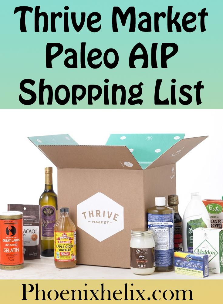 Thrive Market Paleo AIP Shopping List | Phoenix Helix