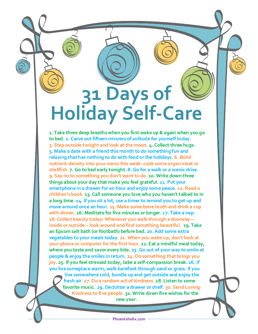 31 Days of Holiday Self-Care | Phoenix Helix