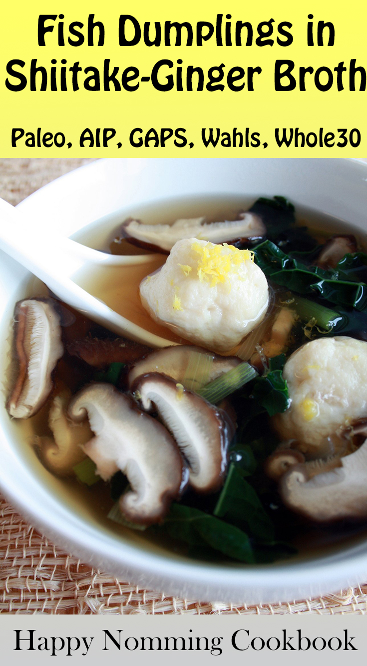 Fish Dumplings with Shiitake-Ginger Broth: A Happy Nomming Sample Recipe | Phoenix Helix