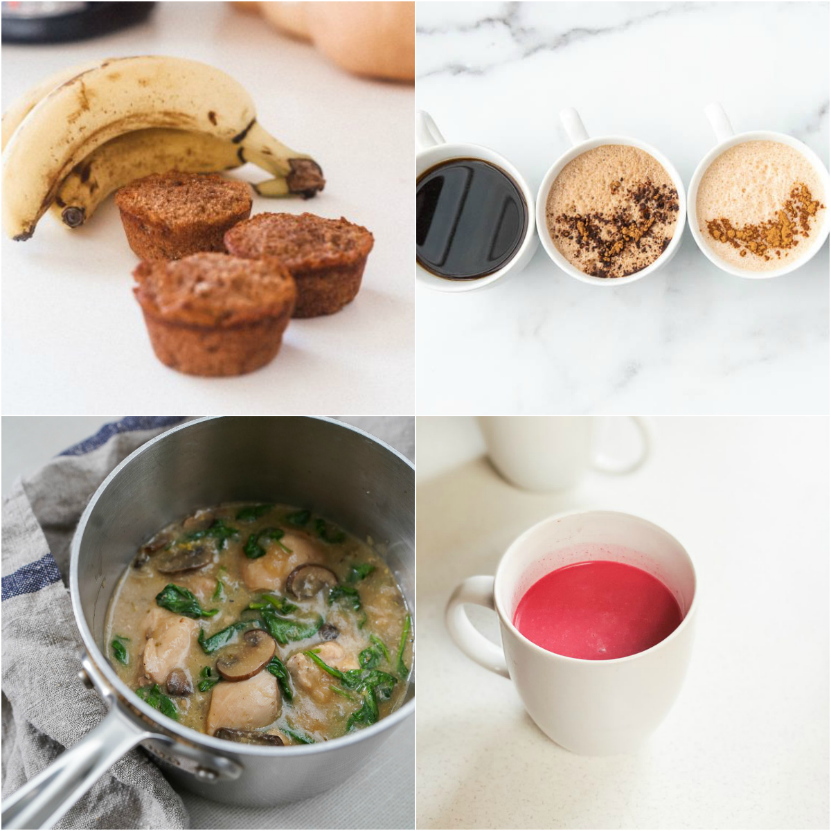 Paleo AIP Recipe Roundtable #305 | Phoenix Helix - *Featured Recipes: Banana Bread Muffins, Creamy Instant Pot Mushroom Chicken, Coffee Alternatives, and Beetroot Latte