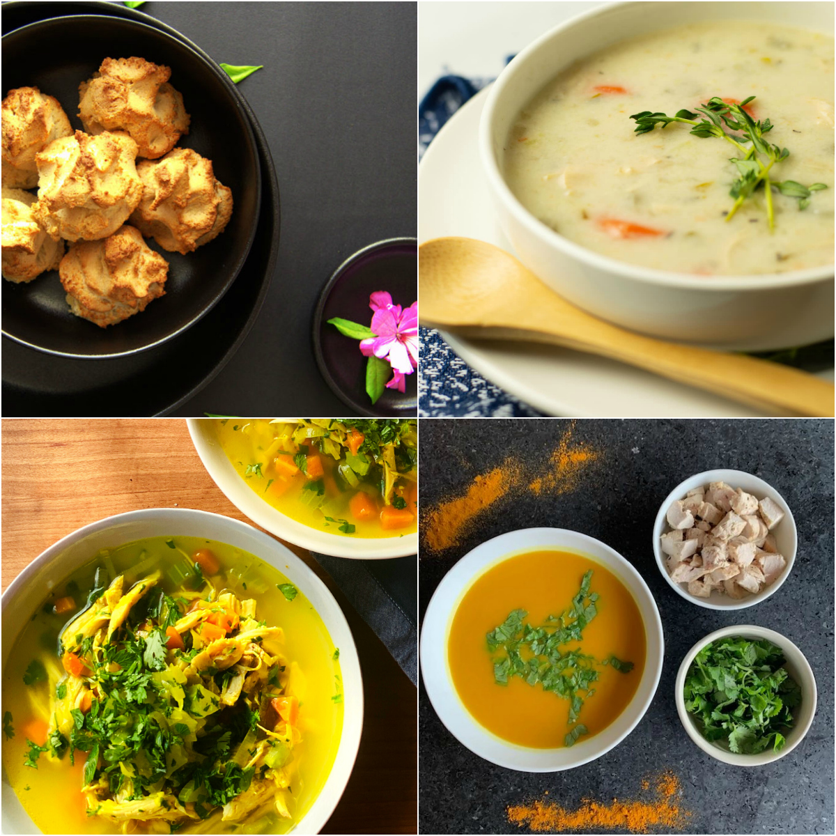 Paleo AIP Recipe Roundtable #306 | Phoenix Helix - *Featured Recipes: Cassava Dinner Rolls, Super-Power Chicken Soup, Hearty Chicken Soup, and Butternut Squash Soup.
