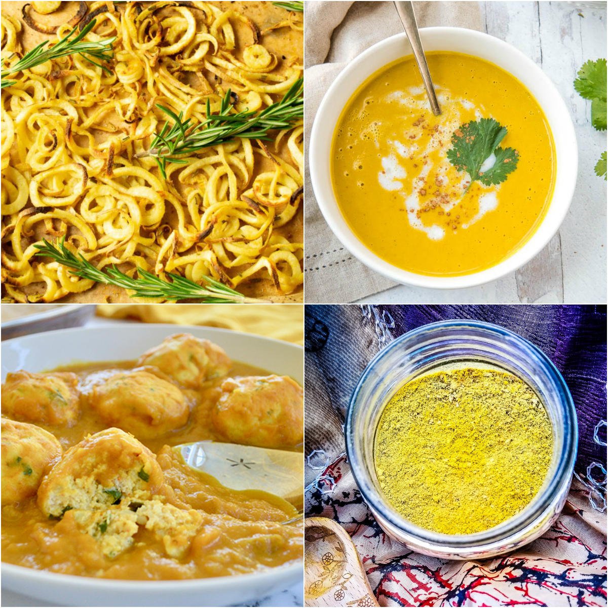 Paleo AIP Recipe Roundtable #307 | Phoenix Helix - *Featured Recipes: Curly Fries, Chicken Kofta Curry, Tandoori Pumpkin Soup, and Fire Cider Spice Blend