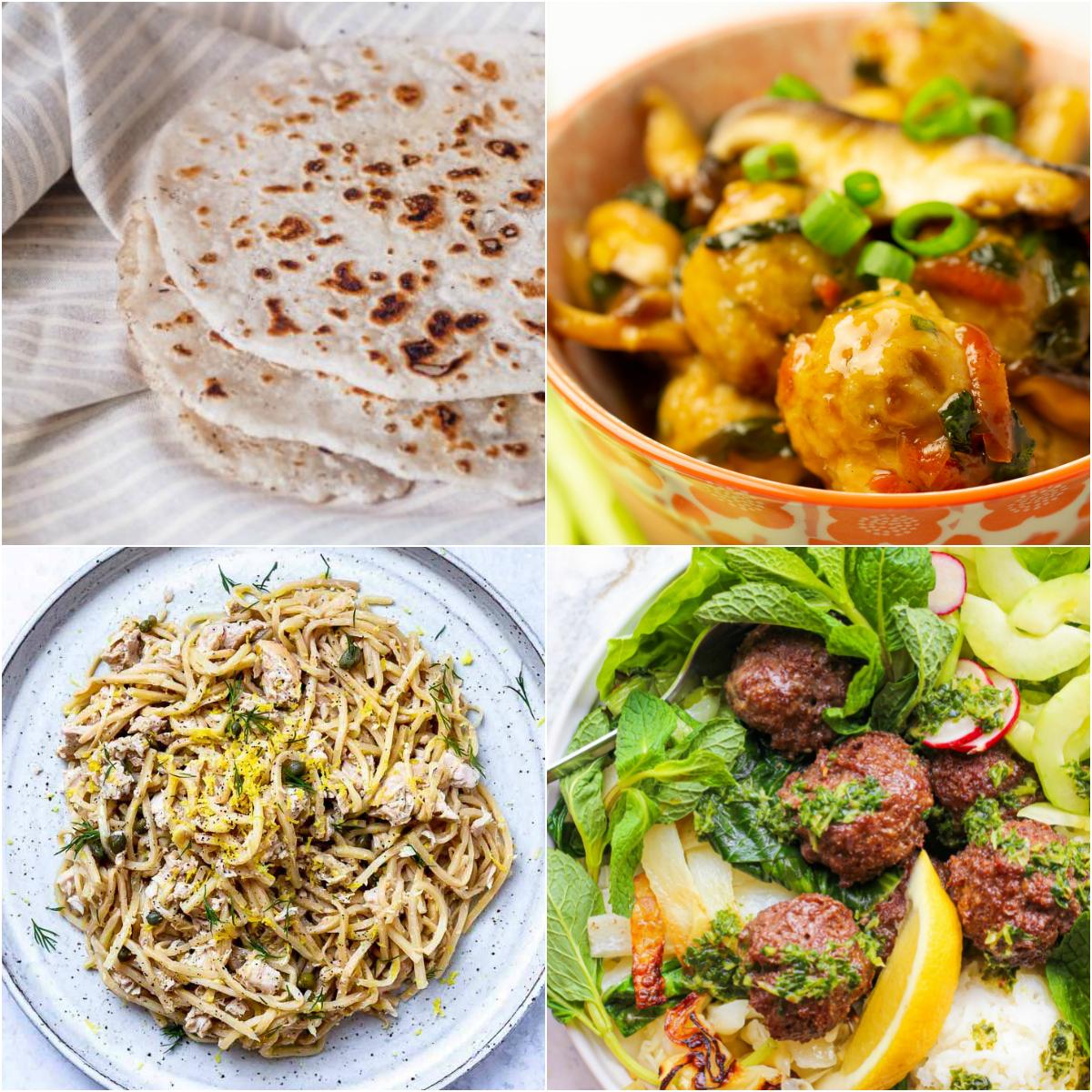 "Paleo AIP Recipe Roundtable #310 | Phoenix Helix - *Featured Recipes: Naan Bread, Tuna ""Pasta"", Teriyaki Meatball Stir-Fry, and Asian Meatballs Sheet Pan Dinner"