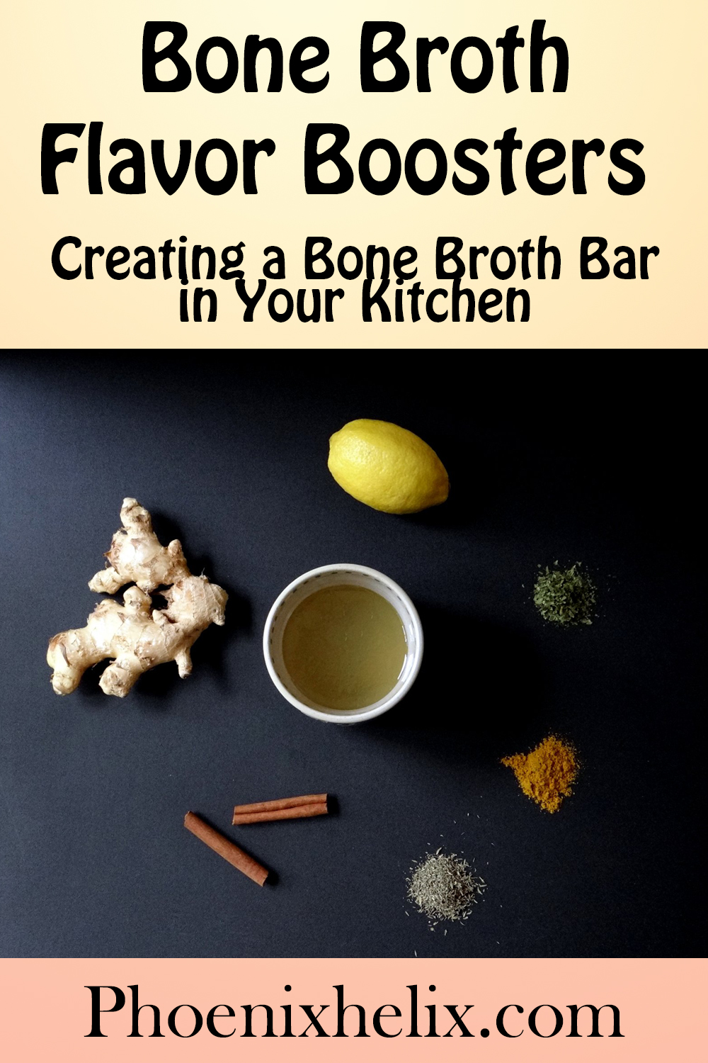 Bone Broth Flavor Boosters - Creating a Bone Broth Bar in Your Kitchen | Phoenix Helix