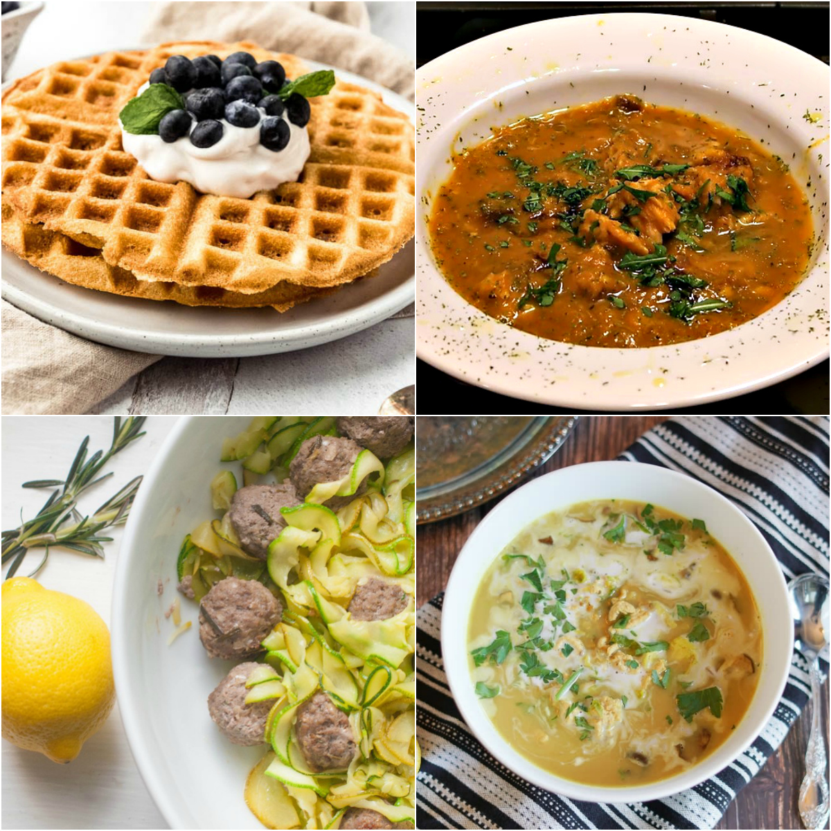 Paleo AIP Recipe Roundtable #313 | Phoenix Helix - *Featured Recipes: AIP Waffles, Fish Stew with Squash & Saffron, Creamy Mushroom and Brussels Sprouts Soup, and 30 Spring Recipes