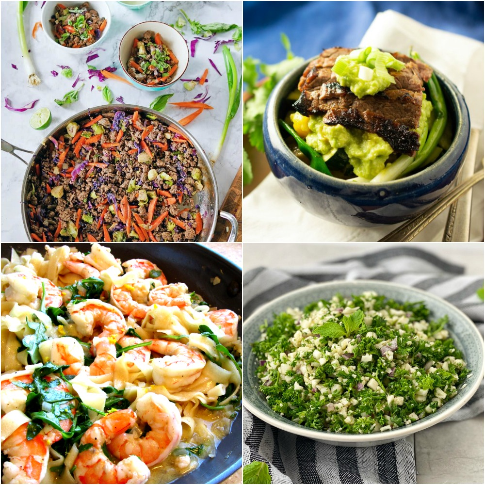 "Paleo AIP Recipe Roundtable #315   Phoenix Helix - *Featured Recipes: Easy Ground Beef Skillet, Shrimp and Arugula ""Fettucine"", Skirt Steak Fajita Bowls, and AIP Tabbouleh"