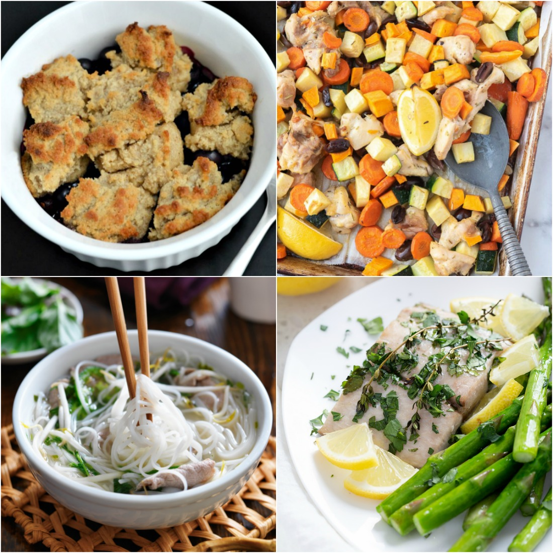 Paleo AIP Recipe Roundtable #321 | Phoenix Helix - *Featured Recipes: Blueberry Cobbler, Sheet Pan Mediterranean Chicken and Veggies, Lemon Baked Mahi Mahi, and an AIP Noodle and Pasta Recipe Roundup