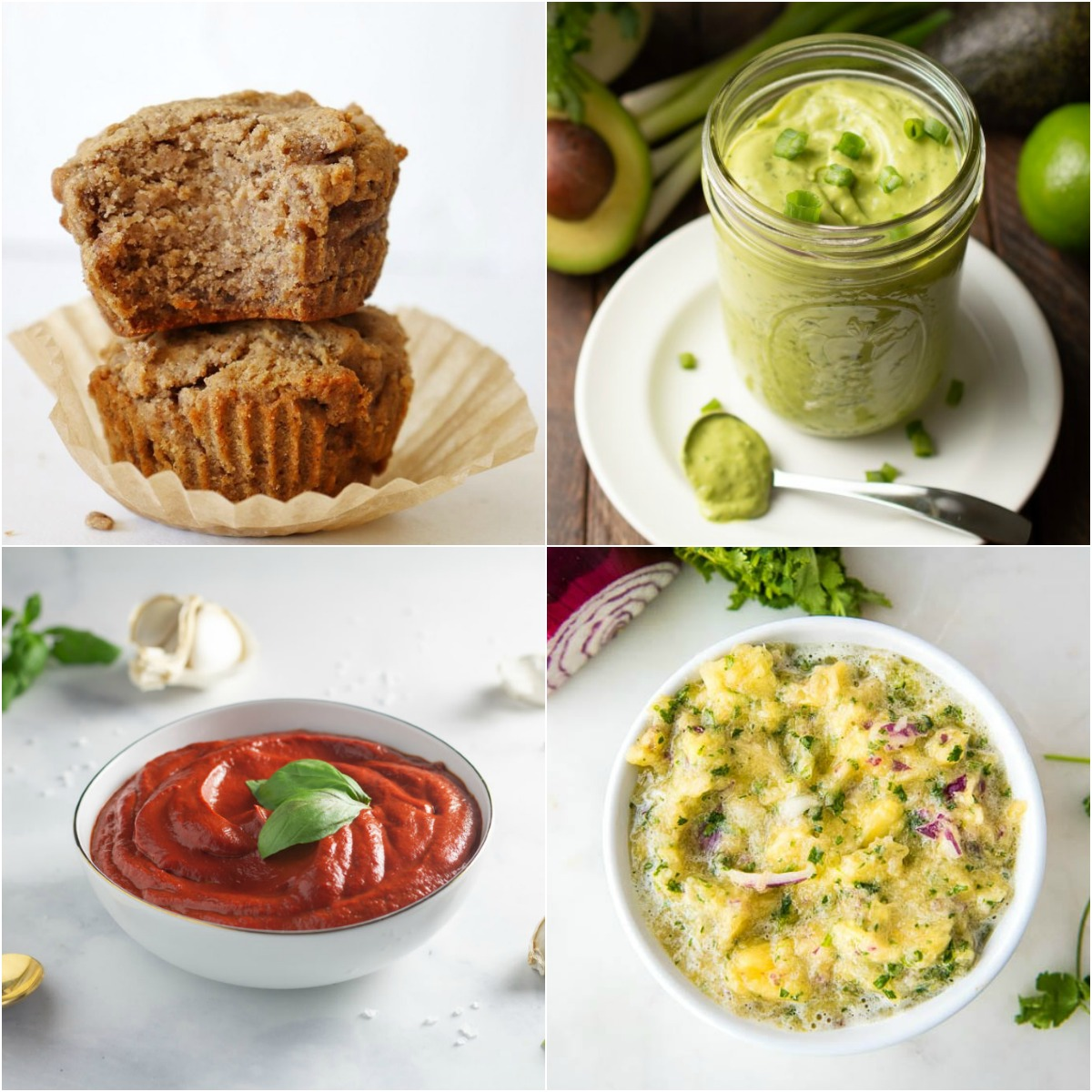 Paleo AIP Recipe Roundtable #326 | Phoenix Helix - *Featured Recipes: Banana Spice Muffins, Marinara Sauce, Avocado Cilantro Dressing/Dip, and 3-Minute Pineapple Salsa
