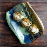 Moroccan Meatballs with Saffron Yogurt Dipping Sauce