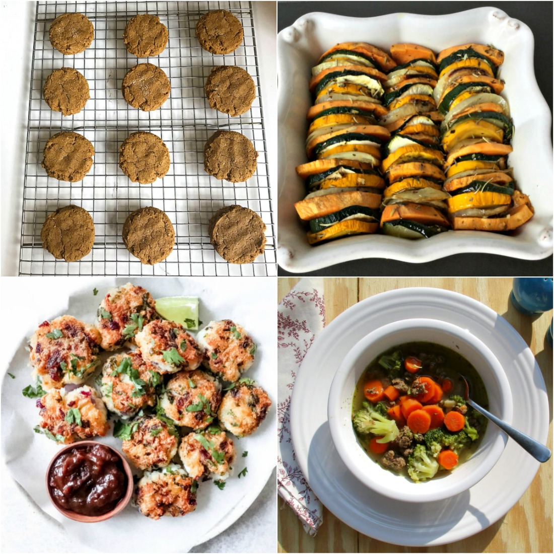 Paleo AIP Recipe Roundtable #331 | Phoenix Helix - *Featured Recipes: Ginger Molasses Cookies with Sweet Potato, Cod Fritters, Zucchini Bake, and Beef and Broccoli Soup