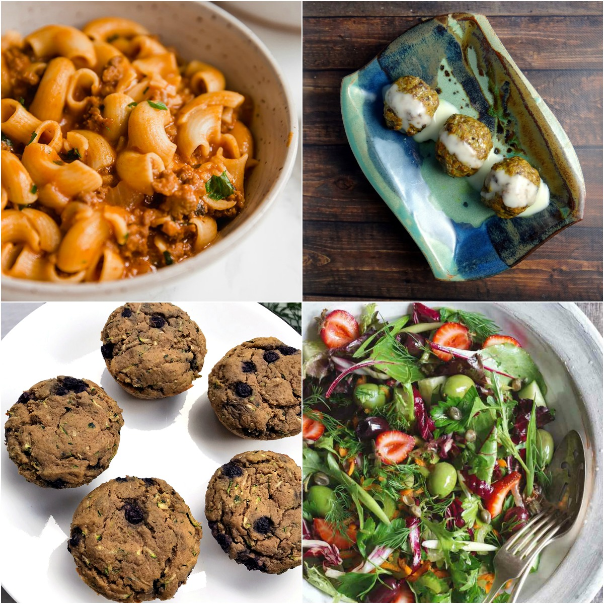 Paleo AIP Recipe Roundtable #332 | Phoenix Helix - *Featured Recipes: Copycat Hamburger Helper, Blueberry Zucchini Plantain Muffins, Moroccan Meatballs with Saffron Yogurt Dipping Sauce, and a Summer Salad