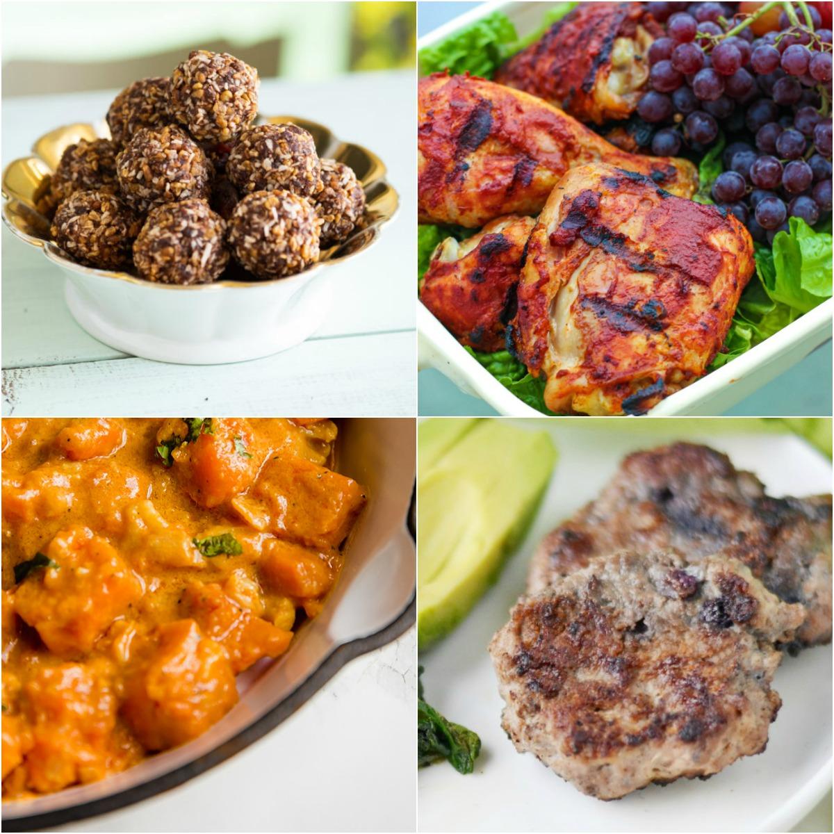 "Paleo AIP Recipe Roundtable #334 | Phoenix Helix - *Featured Recipes: ""Ferrero"" Power Balls, Sweet Potato Cauliflower Curry, BBQ Chicken, and Blueberry Turkey Breakfast Sausage"