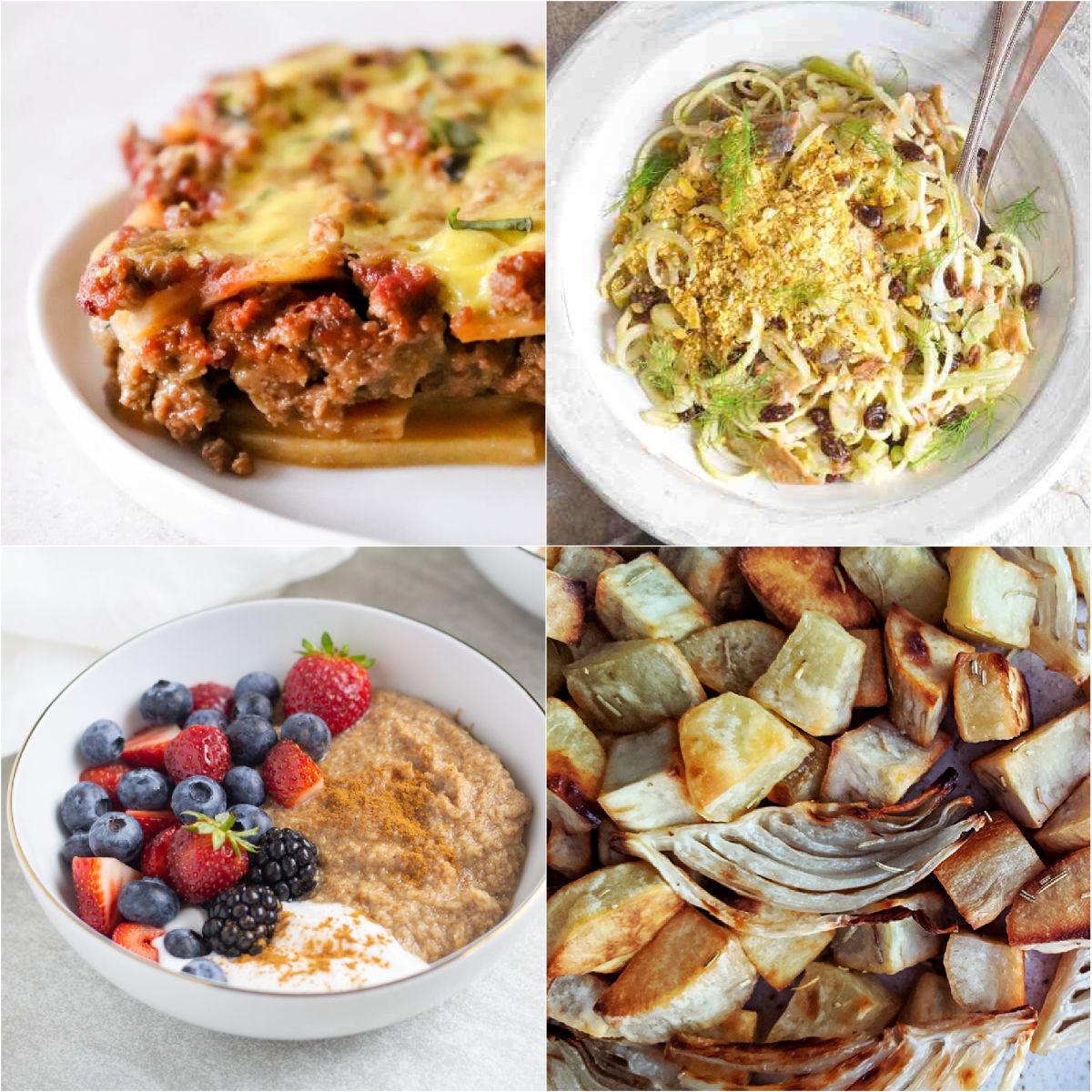 "Paleo AIP Recipe Roundtable #339 | Phoenix Helix - *Featured Recipes: Sweet Potato ""Lasagna"", 5-Minute Grain-Free ""Oatmeal"", Pasta Con Le Sarde, and Roasted Fennel & White Sweet Potatoes"