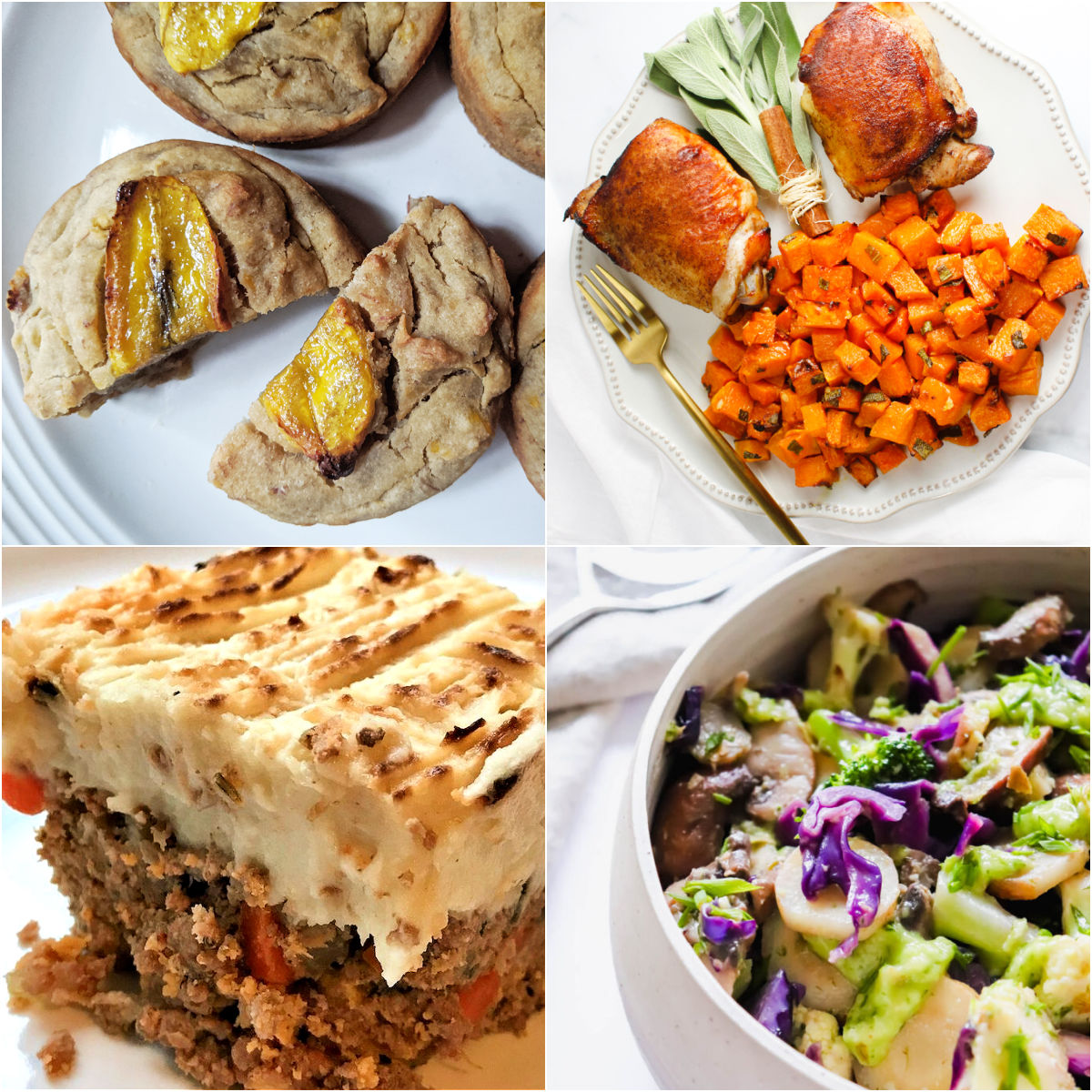 Paleo AIP Recipe Roundtable #340 | Phoenix Helix - *Featured Recipes: Sweet Plantain Mini Cakes, Shephard's Pie with Cauliflower Parsnip Mash, Sheet Pan Cinnamon Roasted Chicken, and Sautéed Veggies with Pears & Chives
