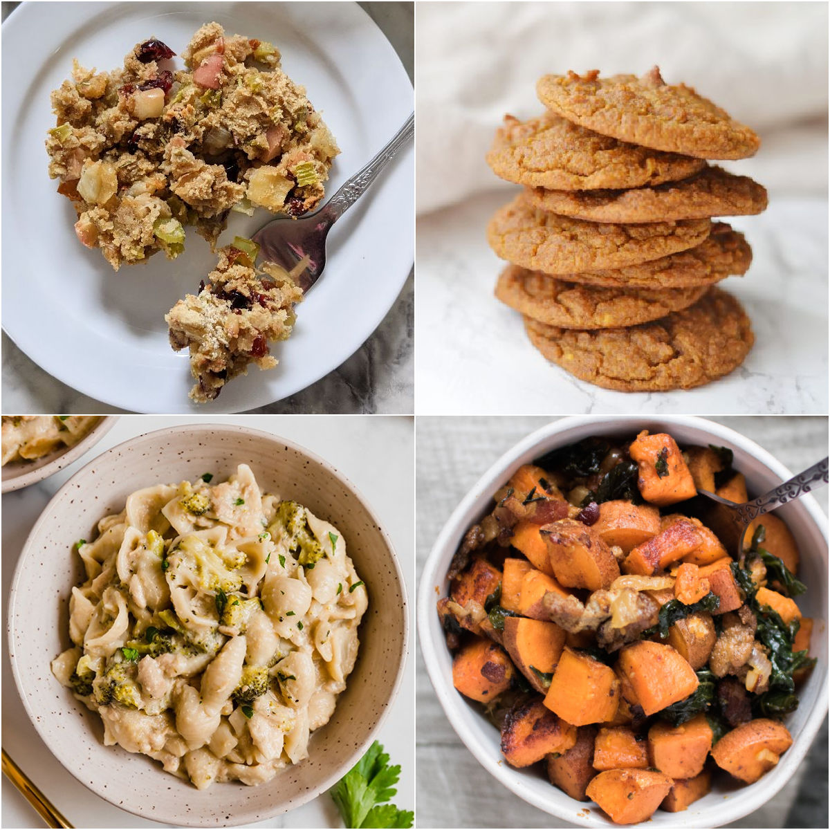 Paleo AIP Recipe Roundtable #342 | Phoenix Helix - *Featured Recipes: AIP Bread Stuffing, Tuna Noodle Casserole, Spiced Sweet Potato Cookies, and Sweet Potato, Bacon, & Kale Hash