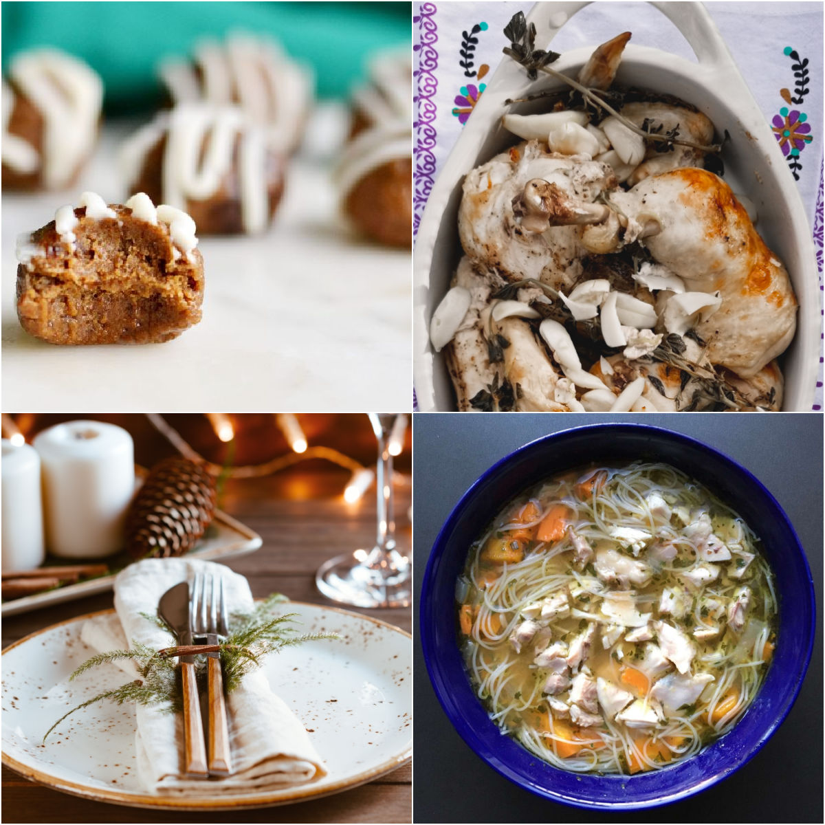 "Paleo AIP Recipe Roundtable #347 | Phoenix Helix - *Featured Recipes: Gingerbread Bites, Garlic Braised Chicken, Chicken ""Noodle"" Soup, and a Winter Holiday Recipe Guide"