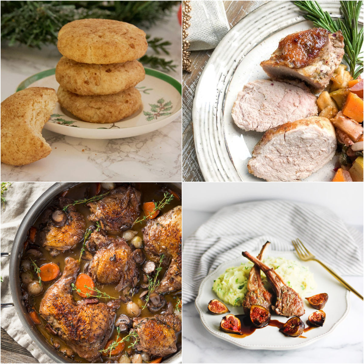"""Paleo AIP Recipe Roundtable #349   Phoenix Helix - *Featured Recipes: Snickerdoodle Cookies, Coq au Vin, Honey Apple Pork Tenderloin, and Lamb Chops and Roasted Figs with Balsamic Mint Sauce and Savory """"Mashed Potatoes"""""""