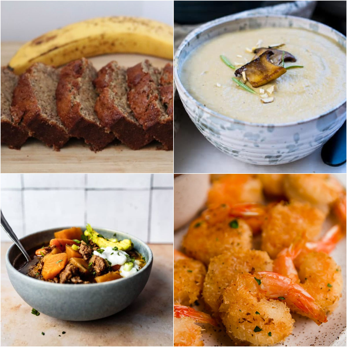 Paleo AIP Recipe Roundtable #351 | Phoenix Helix - *Featured Recipes: Banana Bread, Cozy Instant Pot Chili, Cream of Mushroom Soup, and Oven Baked Coconut Shrimp.