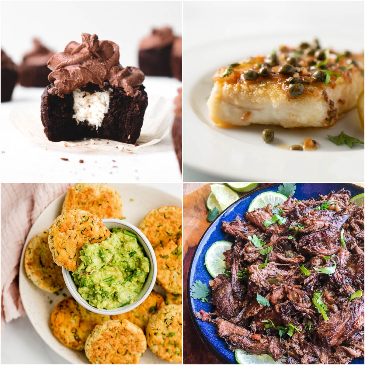 Paleo AIP Recipe Roundtable #353 | Phoenix Helix - *Featured Recipes: Peppermint Patty Cupcakes, Baked Veggie Nuggets, Slow Cooker Shredded Beef, and Halibut with Lemon Caper Sauce