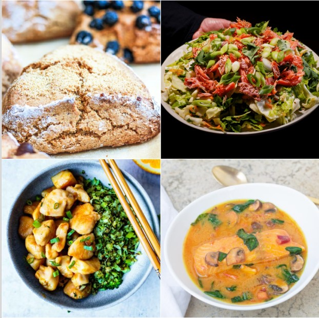 Paleo AIP Recipe Roundtable #354 | Phoenix Helix - *Featured Recipes: Orange Chicken, Easy Fish Salad Slaw, Coconut Curry Soup with Salmon, and a Master Scones Recipe.