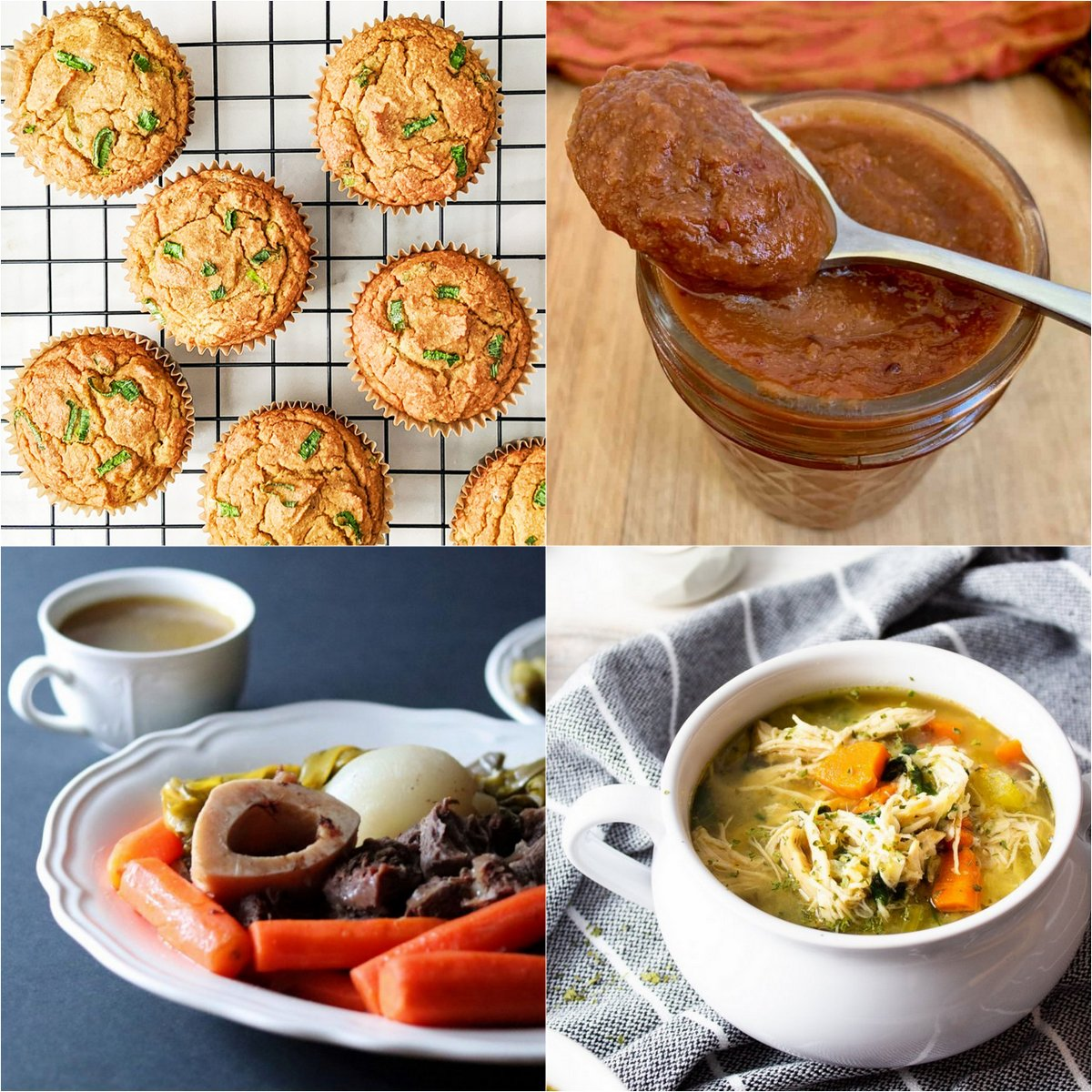 "Paleo AIP Recipe Roundtable #359 | Phoenix Helix - *Featured Recipes: Butternut Squash Scallion Muffins, Instant Pot Nomato Sauce, Hearty Chicken Vegetable Soup, and French Beef Stew ""Pot au Feu""."