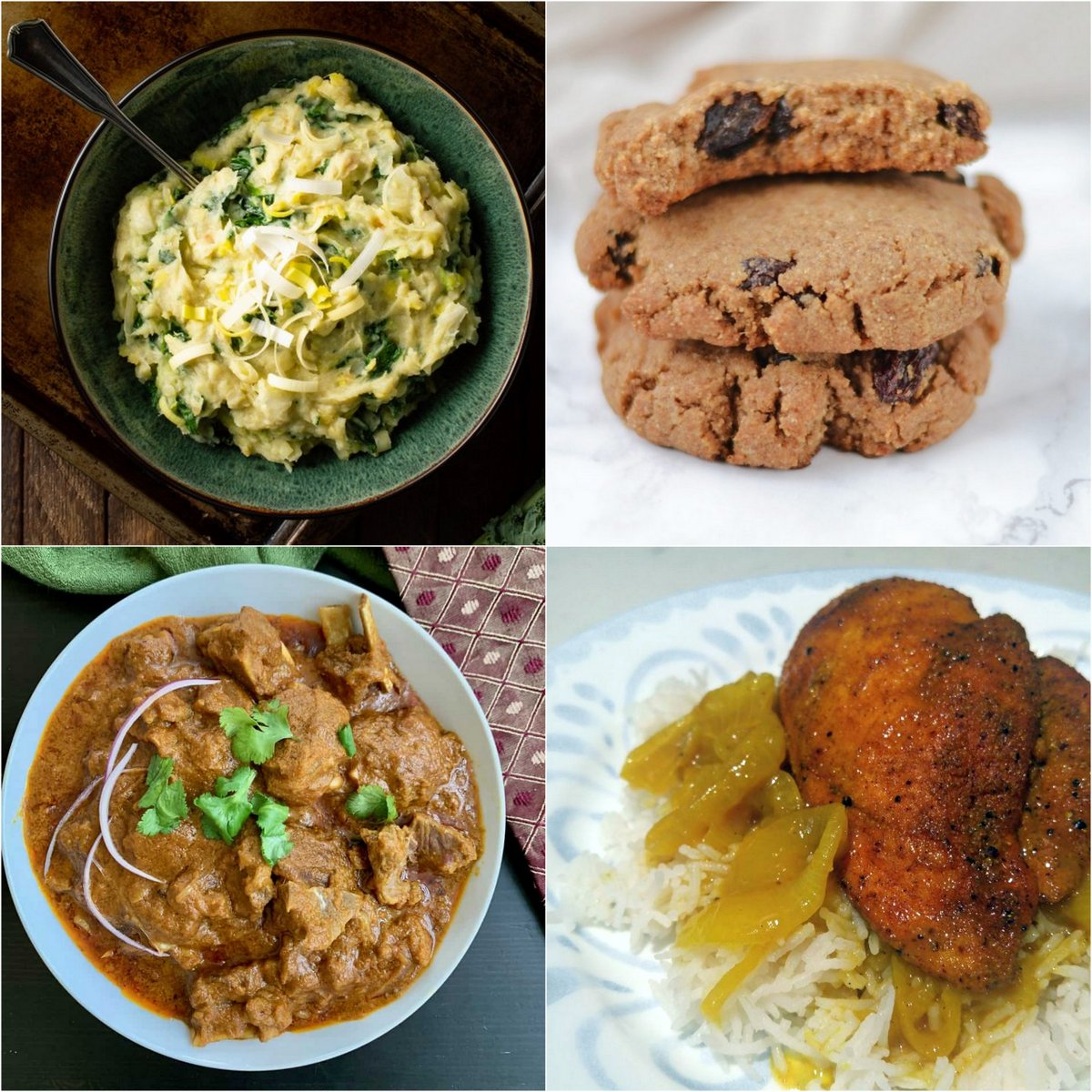 Paleo AIP Recipe Roundtable #361 | Phoenix Helix - *Featured Recipes: Irish Colcannon, Cinnamon Raisin Cookies, Instant Pot Goat (or Lamb) Curry, and Honey Curry Chicken Breasts