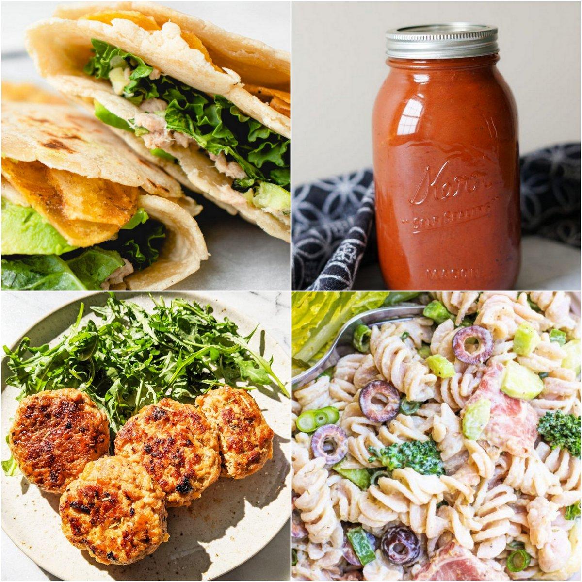 Paleo AIP Recipe Roundtable #363   Phoenix Helix - *Featured Recipes: Crunchy Tuna Wraps, Easy Tomatoless Pasta Sauce (No Beets), Sweet Potato Turkey Patties, and Antipasto Pasta Salad.