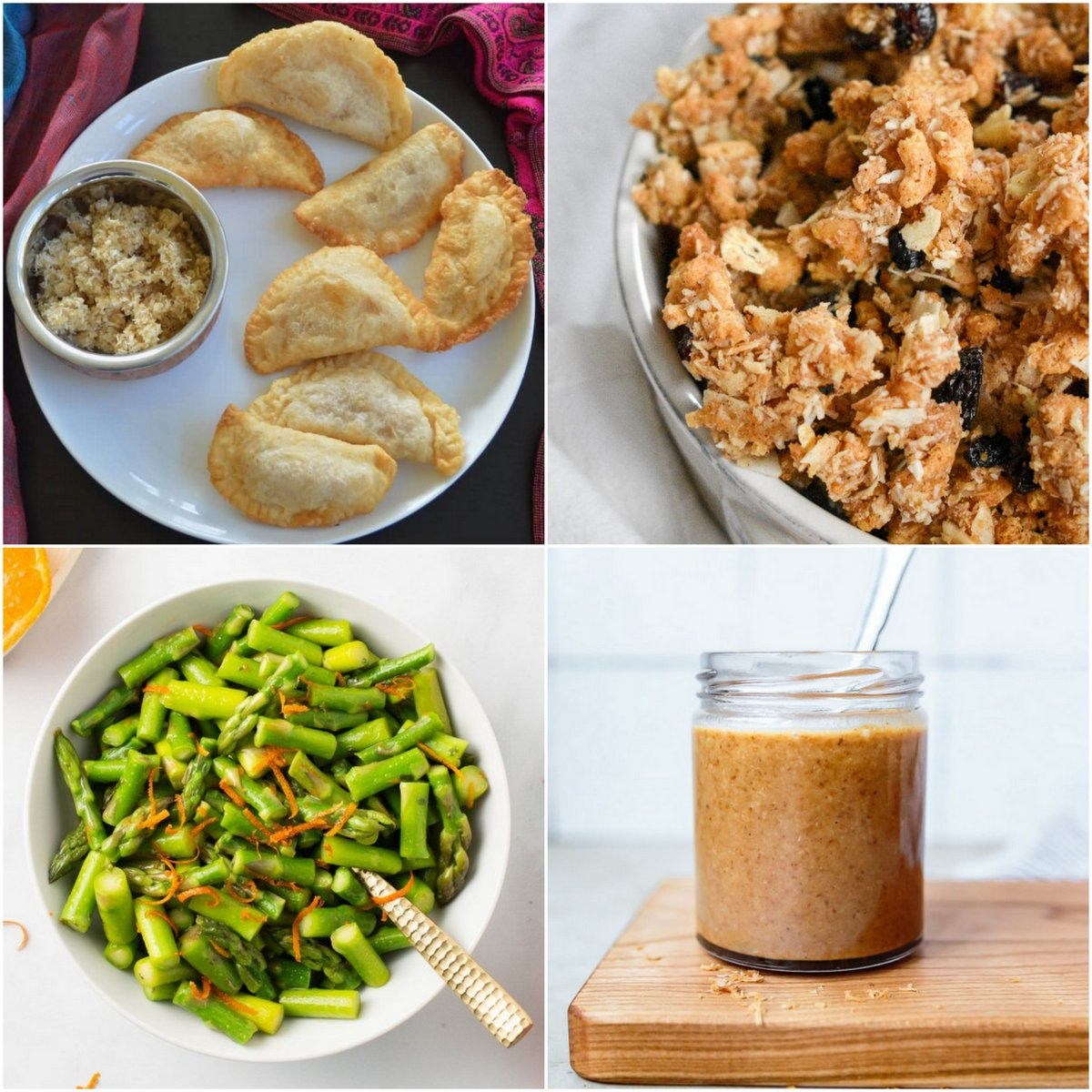 Paleo AIP Recipe Roundtable #364 | Phoenix Helix - *Featured Recipes: Gujiyas, Lovebird Cheerio Granola, Spring Orange Asparagus, and No-Brainer Toasted Coconut Butter.