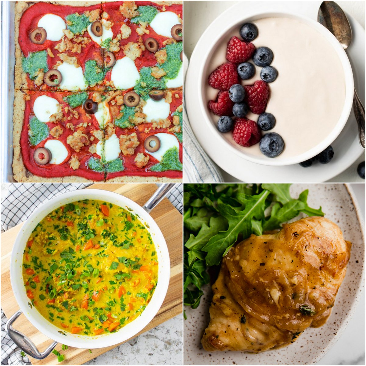 Paleo AIP Recipe Roundtable #366   Phoenix Helix - *Featured Recipes: Sheet Pan Pizza, Vanilla Faux-gurt, French Onion Chicken, and One-Pot Turmeric Chicken and Cauli-Rice.